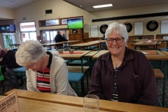 Kath Eddy and Jan Soanes having a laugh